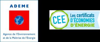 Logos ADEME et Les certificats d'économie d'énergie