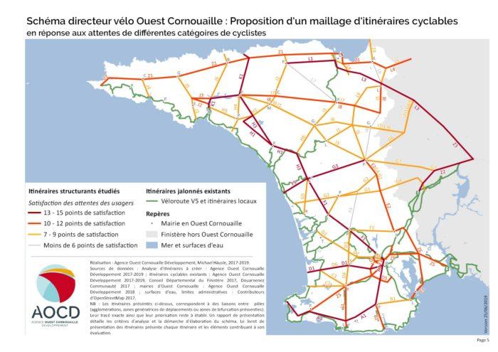 Le réseau cyclable cible de l'Ouest Cornouaille